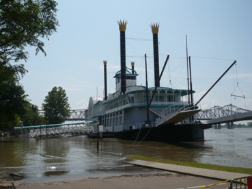 Picture: High water at Natchez-under-the-Hill