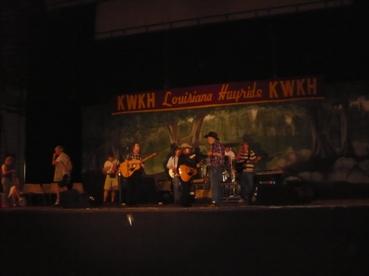 Picture: Our guys on stage at the Louisiana Hayride