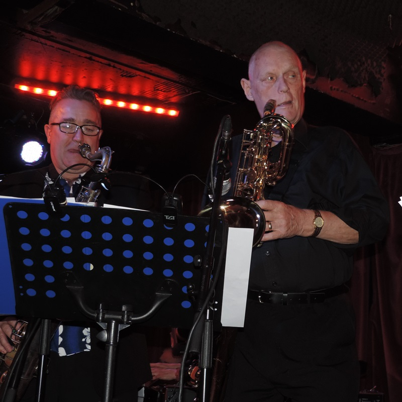 ** Alex Bland and Sid Phillips on saxophones **